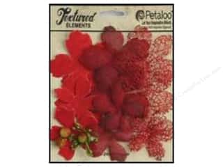Clearance: Petaloo Textured Elements Flower Layers Red