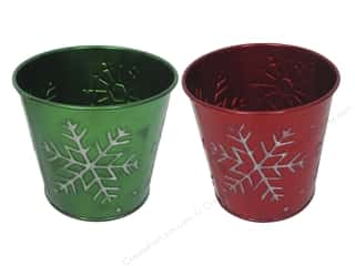 """Weekly Specials Graphic 45: Darice Decor Pot Tin Snowflake Round 4.5"""" Assorted"""