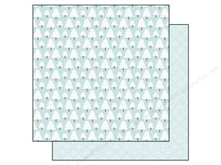 Clearance Doodlebug Glitter: Doodlebug Paper 12 x 12 in. Frosty Friends Frosty Forest (25 sheets)