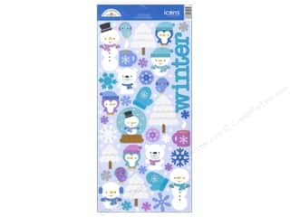 Clearance Doodlebug Glitter: Doodlebug Frosty Friends Collection Sticker Icon Sugar