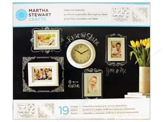 Martha Stewart Stencils by Plaid Chalkboard Calligraphic Corners