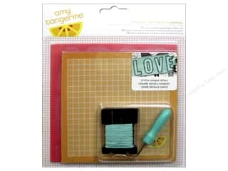 yarn & needlework: American Crafts Amy Tangerine Stitched Embroidery Kit Comrade