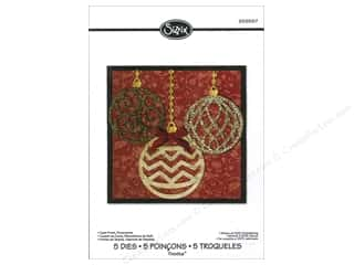 Sizzix: Sizzix Thinlits Die Set 5PK Card Front Ornaments by Rachael Bright