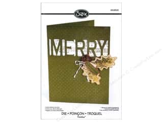 Sizzix Thinlits Die Card with Merry Cut-Out by Rachael Bright