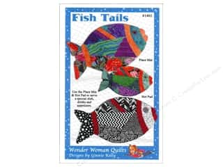 Quilted Fish, The: Wonder Woman Quilts Fish Tails Place Mat & Hot Pad Pattern