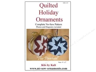 home decor pattern: Kits By Kalt Quilted Holiday Ornaments The Pinwheel Pattern