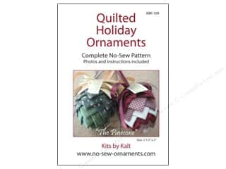 home decor pattern: Kits By Kalt Quilted Holiday Ornaments The Pinecone Pattern