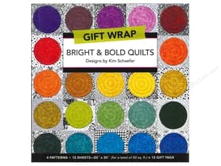 Gift Wrap & Tags: C&T Publishing Gift Wrap & Tags Bright & Bold Quilts by Kim Schaefer