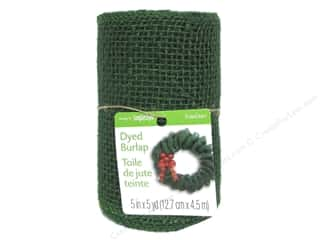 Everything You Love Sale American Crafts Ribbon: FloraCraft Burlap Ribbon 5 in. x 5 yd. Green