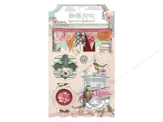 chipboard stickers: Bo Bunny Layered Chipboard Stickers Madeleine