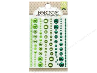 resin: Bo Bunny Double Dot Jewels 86 pc. Emerald