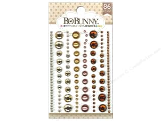 scrapbooking & paper crafts: Bo Bunny Double Dot Jewels 86 pc. Mocha