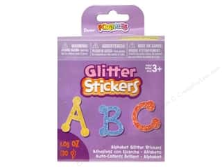 Darice Foamies Alphabet Stickers Bucket Glitter Dot to Dot 1.05 oz.