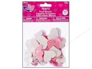 craft & hobbies: Darice Foamies Stickers Hearts 90 pc.