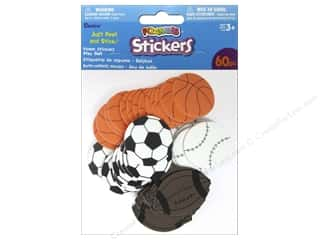 Clearance Darice Foamies Sticker: Darice Foamies Stickers Play Ball 60 pc.