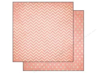 patterned paper: Bo Bunny 12 x 12 in. Paper Double Dot Chevron Coral (25 sheets)