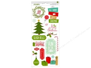 phrase stickers: American Crafts Stickers Be Merry Accent & Phrase