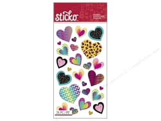 Valentines Day Gifts Baking: EK Sticko Stickers Valentine Classic Hearts Bright