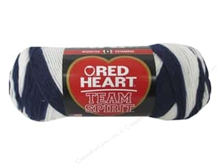Red Heart Team Spirit Yarn #935 Navy/White 244 yd.