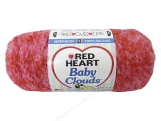 Clearance Red Heart Pomp A Doodle Yarn: Red Heart Baby Clouds Yarn #9701 Pink Punch 140 yd.