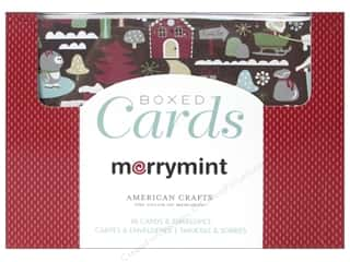 card & envelopes: American Crafts Cards & Envelopes 40 pc. Merrymint