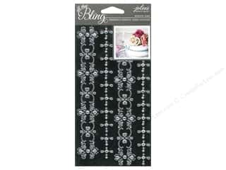 theme stickers  wedding: Jolee's Boutique Stickers Bling Gems Wedding Border Clear