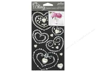 EK Jolee's Boutique Bling Gems Wedding Heart Pearl