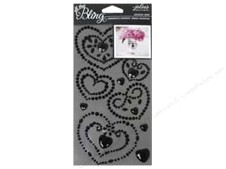 EK Jolee's Boutique Bling Gems Wedding Heart Black