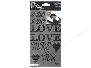 EK Jolee's Boutique Bling Gems Wedding Word Black