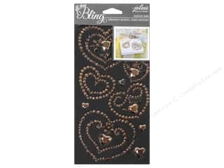 EK Jolee's Boutique Bling Gems Wedding Heart Rose Gold