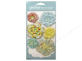 Jolee's Boutique Stickers Paper Flowers Bold Prints