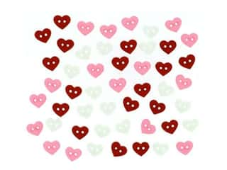 novelties: Jesse James Embellishments - Valentine Micro Hearts