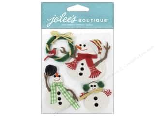 christmas ribbon: Jolee's Boutique Stickers Snowmen