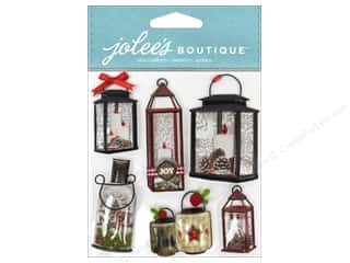 Jolee's Boutique Stickers Holiday Lanterns & Holly