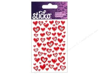 Sticko Epoxy Stickers - Mini Hearts Red