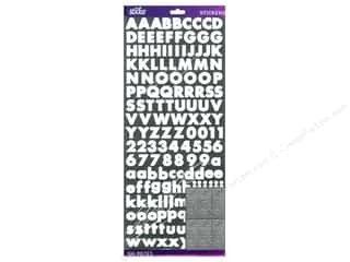 Alphabet Stickers / Number Stickers: EK Sticko Alphabet Stickers Value Pack Bold Futura White