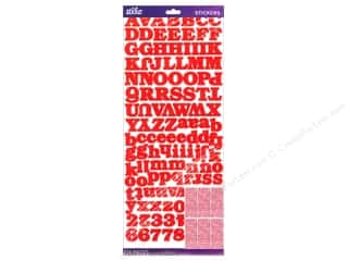 EK Sticko Alphabet Stickers Value Pack Bookman Red