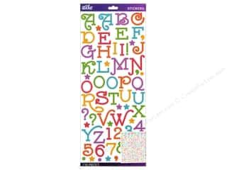 EK Sticko Alphabet Stickers Gas Alley Glitter Multi