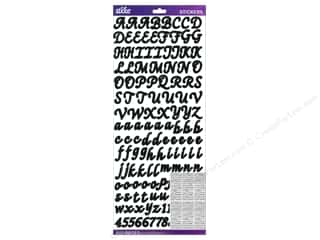 alphabet stickers: EK Sticko Alphabet Stickers Script Value Pack Black