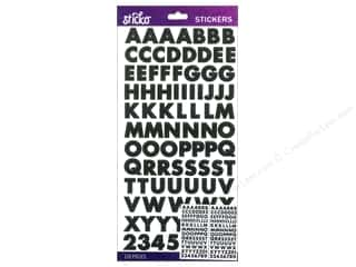 Sticko Alphabet Stickers - Bold Futura Small Black