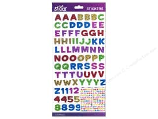 scrapbooking & paper crafts: Sticko Alphabet Stickers - Funhouse Small Metallic Multi