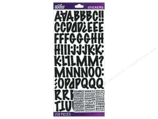 scrapbooking & paper crafts: EK Sticko Alphabet Stickers Marker Medium Black