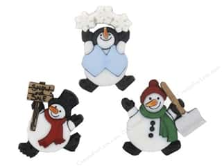 craft & hobbies: Jesse James Dress It Up Embellishments Roly Poly Snowman