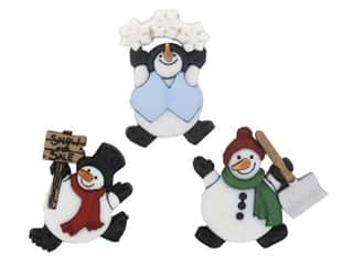 novelties: Jesse James Embellishments - Roly Poly Snowman