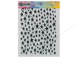 Clearance Sunworks Construction Paper 9 x 12: Ranger Dylusions 9 x 12 in. Stencil Stars
