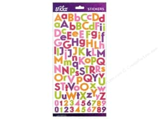 stickers: EK Sticko Alphabet Stickers Combo Glitter Small Bright