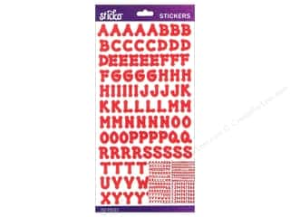 EK Sticko Alphabet Stickers Dot Small Red