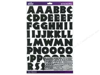 stickers  -3D -cardstock -fabric: EK Sticko Alphabet Stickers Neuland Large Black