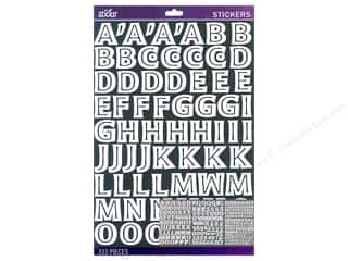 Alphabet Stickers / Number Stickers: EK Sticko Alphabet Stickers Moonglow Large White