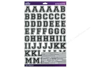 alphabet stickers: EK Sticko Alphabet Stickers Varsity Large Black